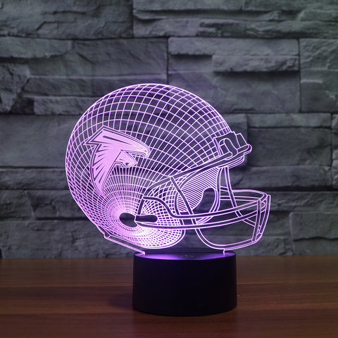 3D Atlanta Falcons - LED Lamp