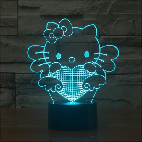 3D Hello Kitty - LED Lamp