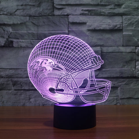 3D Baltimore ravens - LED Lamp