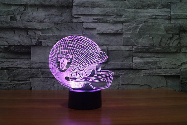 3D - Oakland Raiders - LED Lamp