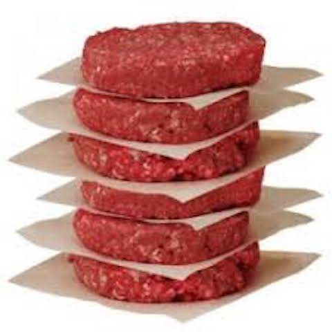 Bull & Bush:  6 Beef Gourmet Burger Patties - 1kg