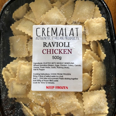 Cremalat Ravioli Chicken 500g (Keep Frozen)