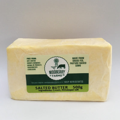 Mooberry Farms Butter - Salted:  250g & 500g