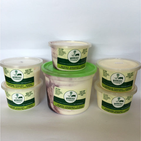 Mooberry Farms Naturally Flavoured Greek Yoghurts 1 Litre : Various Flavours