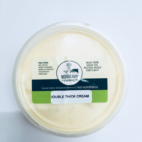 Mooberry Farms Fresh Double thick Cream:  200ml