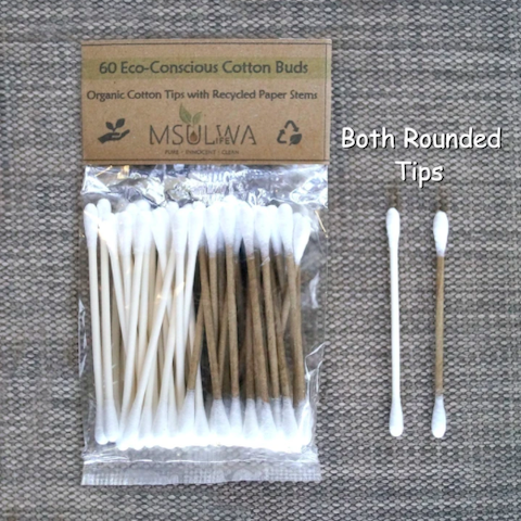 Msulwa Cotton Buds (Organic Tips & Recycled Paper Stems) - 60