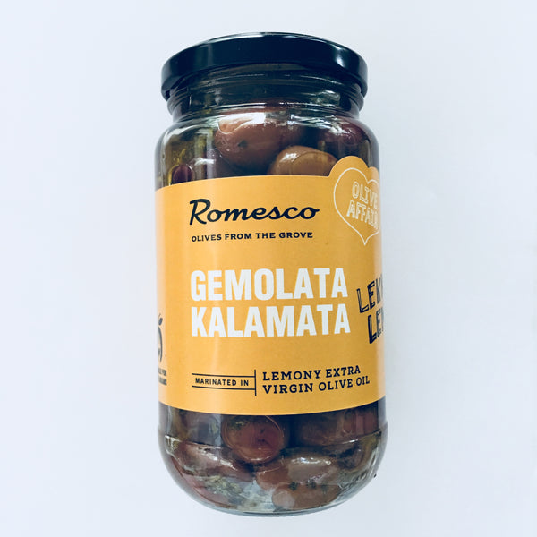 Romesco Gemolata Kalamata - Marinating Olives 380g