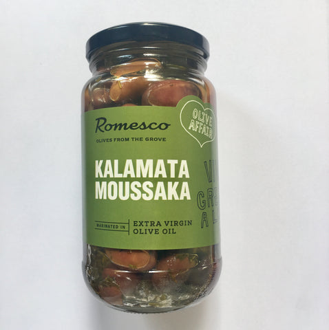 Romesco Kalamata Moussaka - Marinating Olives 380g