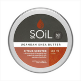 SOiL Organic Citrus Scented Ugandan Shea Butter: 100ml