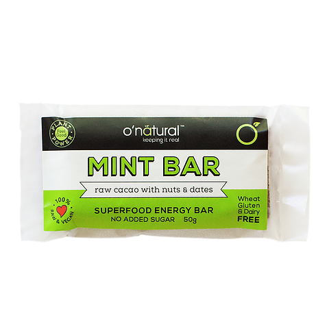 O'Natural Mint Superfood Bar - 50g