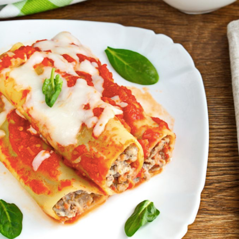 Cremalat CANNELLONI Meat 650g - Keep Frozen