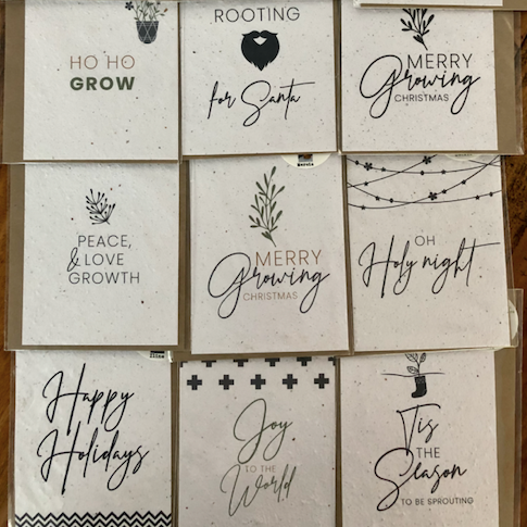 Growing Paper Christmas Card - Each