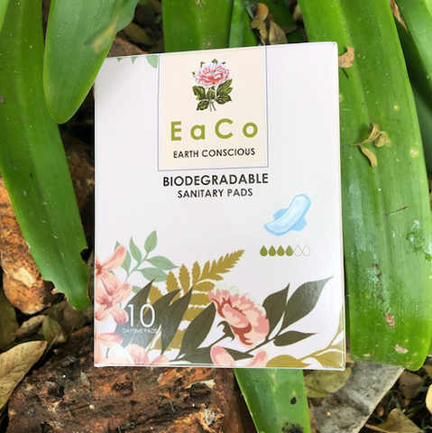 EaCo Biodegradable Sanitary Pads - DAY time (10's) & NIGHT time (8's)