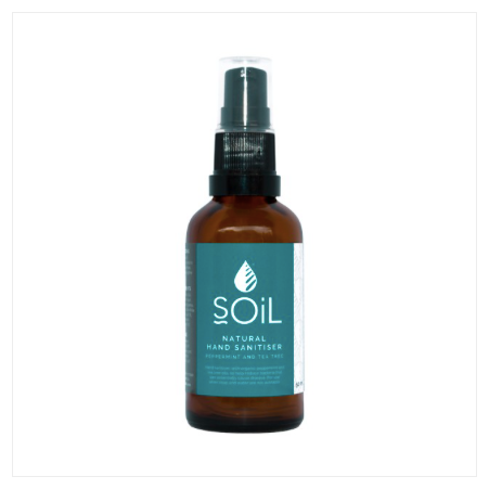 SOIL Peppermint and Tea Tree Hand Sanitiser 50ml