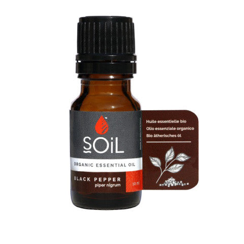 Soil Organic Black Pepper (Piper Nigrum) Essential Oil: 10ml