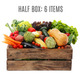 Wensleydale Fresh Organic Vegetable Boxes - HALF (6 items)