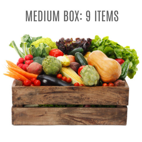 Wensleydale Fresh Organic Vegetable Box - MEDIUM (9 items)