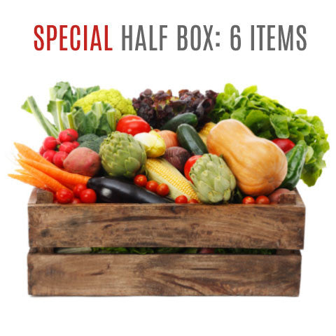 Wensleydale Fresh Organic Vegetable Boxes - SPECIAL: HALF BOX (6 items)
