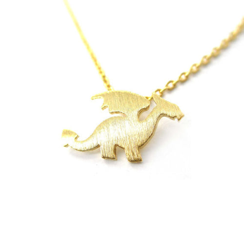 Silver/Gold Dainty Dragon Necklace