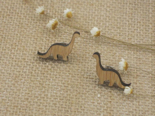 Bamboo Dino Stud Earrings