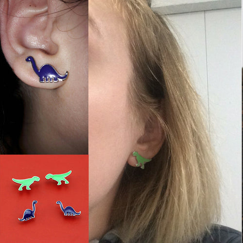 Cartoon Dino Stud Earrings