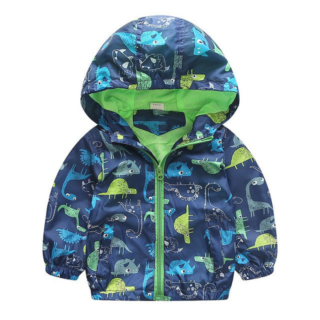 Sketch Dino Kid's Windbreaker