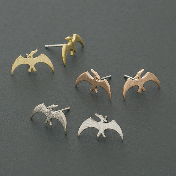 Pterodactyl Dinosaur Stud Earrings