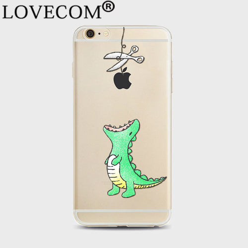 Hungry Dino Transparent iPhone Cover