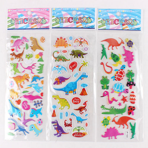 Cute Dino Puffy Sticker Collection (5 sheets)