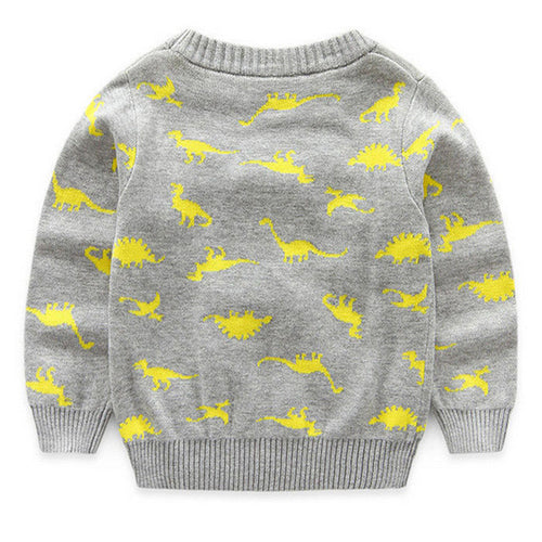 Baby Dino Pattern Pullover Sweater