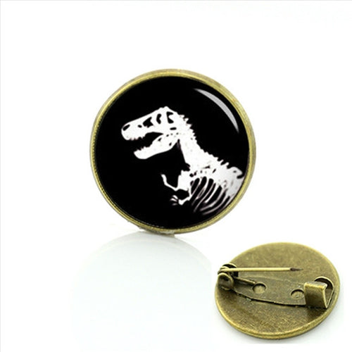 T-Rex Skeleton Antique style Pin
