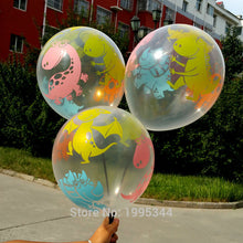 Dino Birthday Transparent Balloons