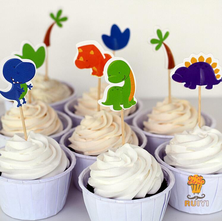 Jurassic Dino Party Cupcake Toppers