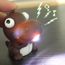 LED Dino Keychain w/ Sound