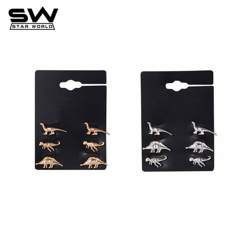 Dino Collection 3-Pair Set Earrings