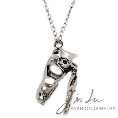 Silver Skull Dinosaur Necklace