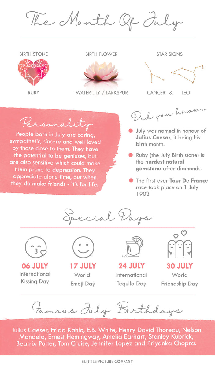 July Birth Month Fun Facts and Gift Guide – The Little