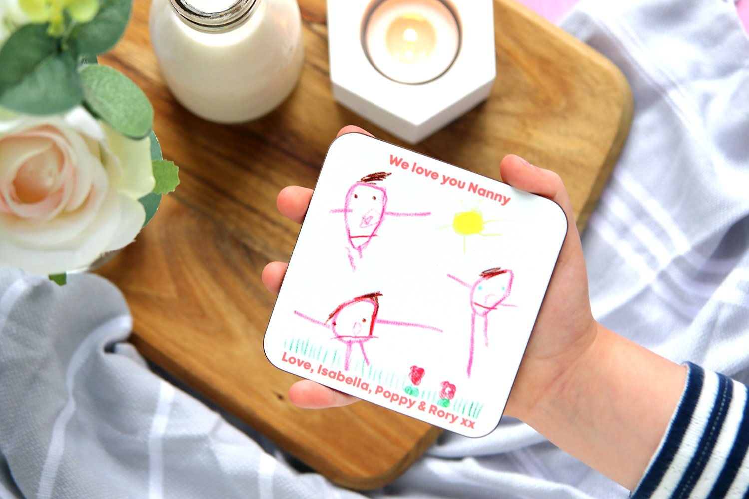 Personalised Child's Drawing Coaster Gift