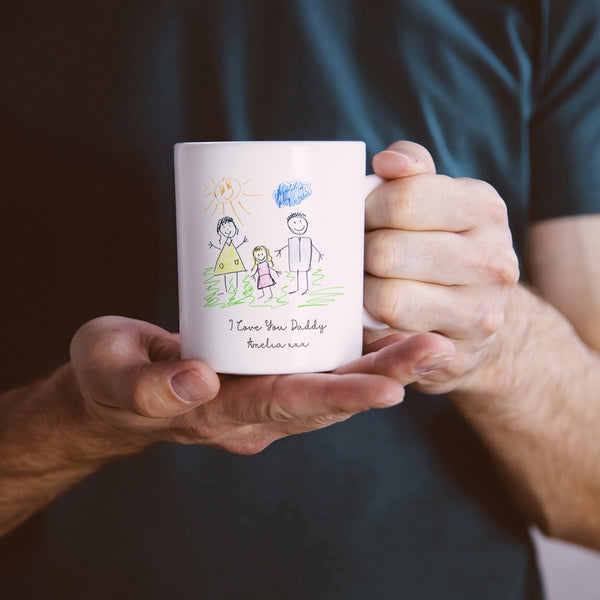 Unique personalised Father's Day Gift | Your Child's Drawing on a Mug