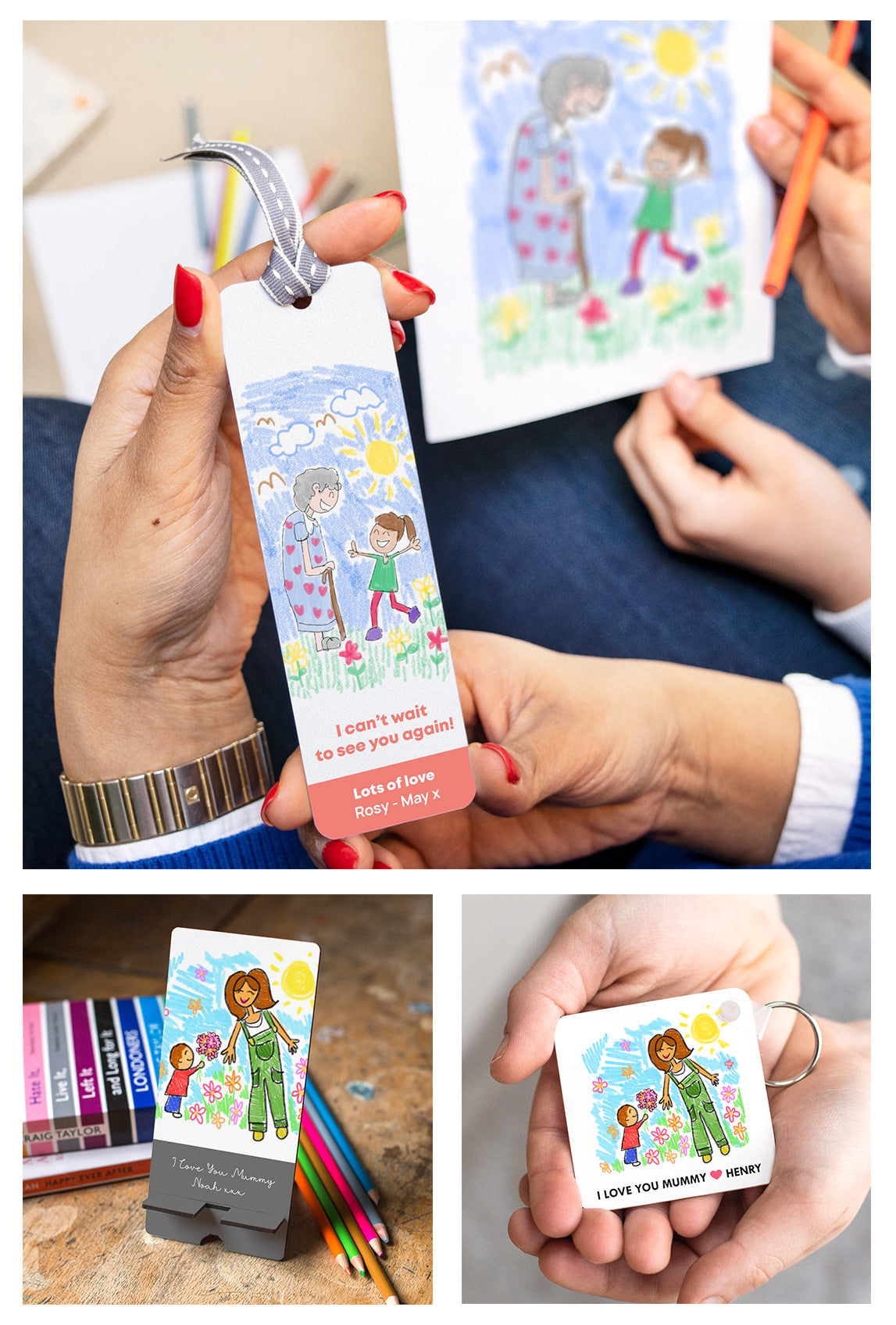 Personalised gifts featuring your child's drawing