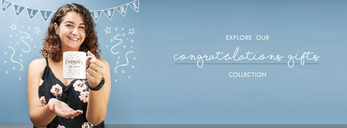 Personalised Congratulations gifts, perfect for those who just passed their A levels!