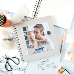Personalised metal photo plate cover scrapbook and photo album for father's day