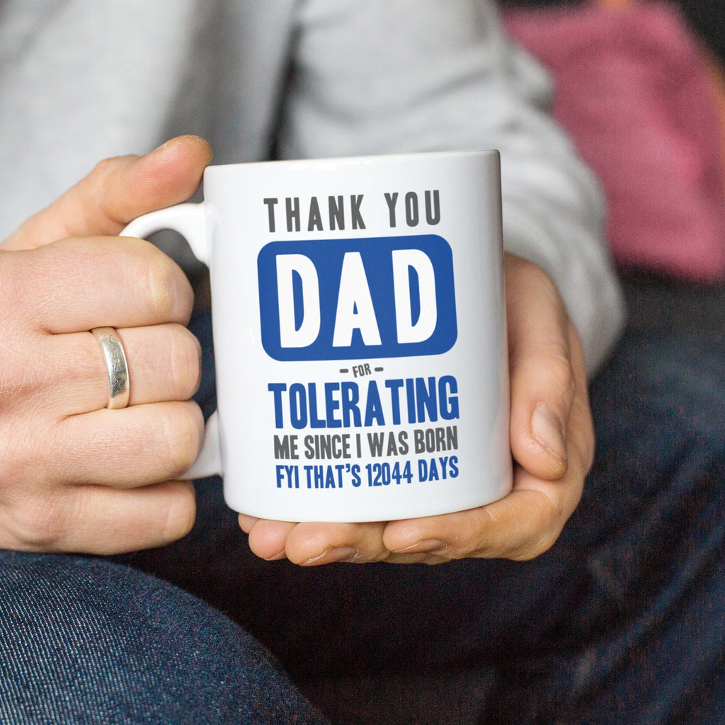 Personalised funny Father's Day mug gift for dad