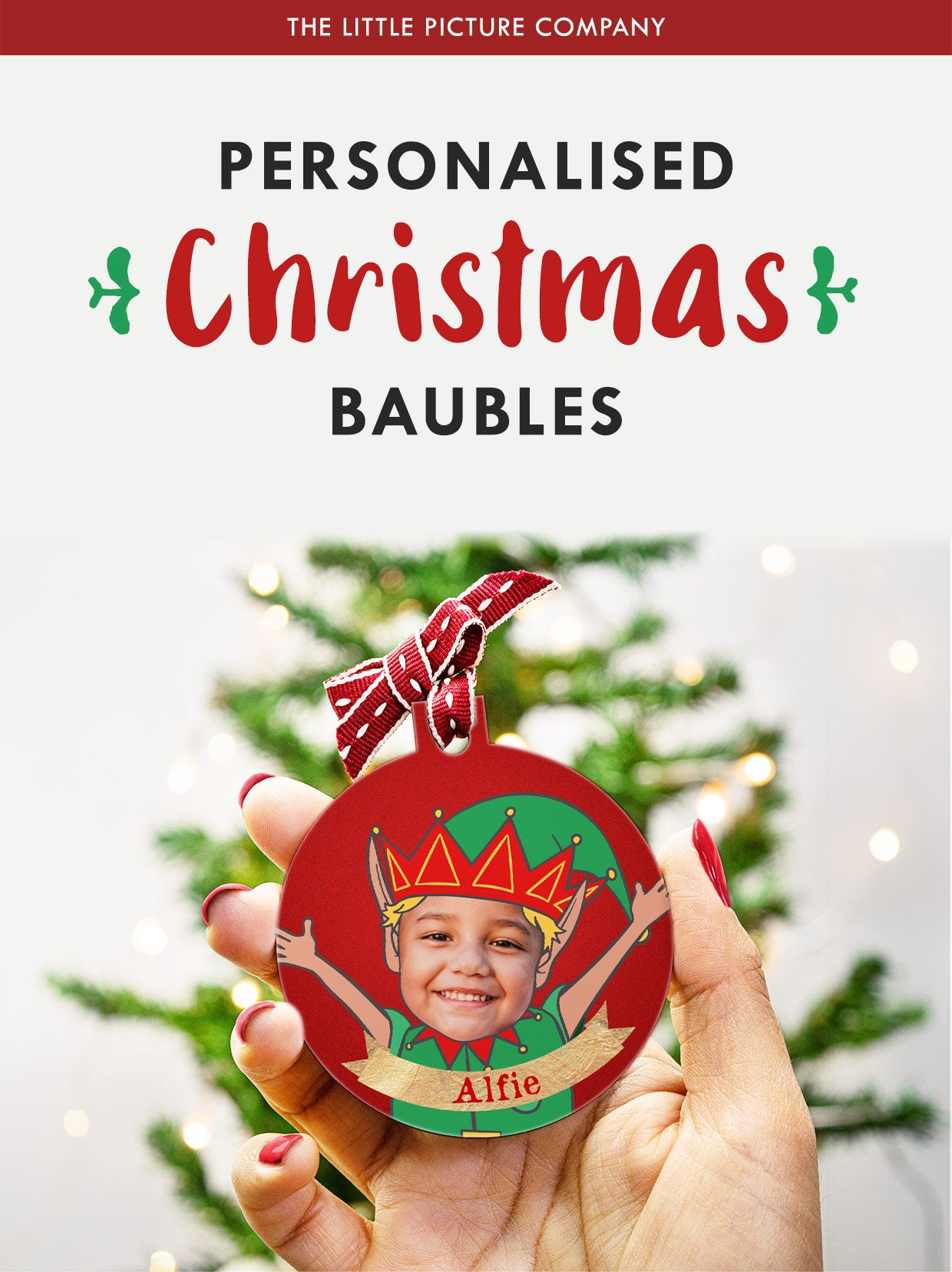 Unique Personalised Christmas Baubles with photos