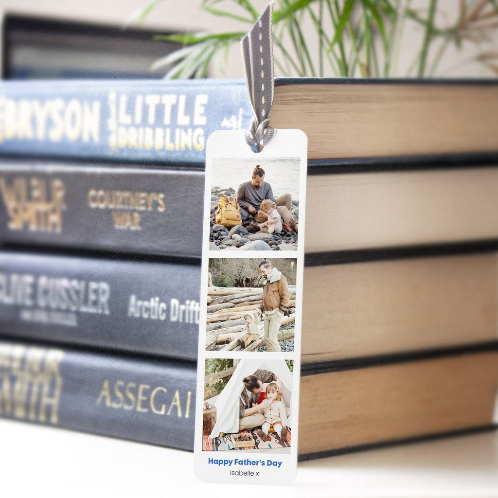 Personalised photobooth bookmark gift for dad