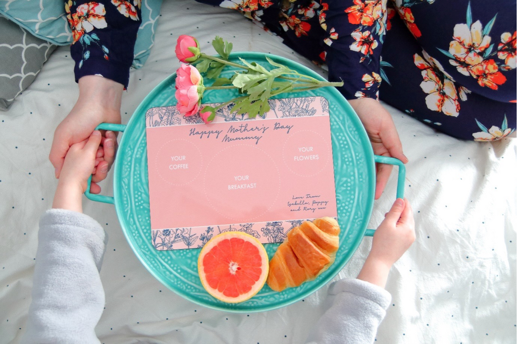 Personalised Breakfast in bed placemat for Mother's Day