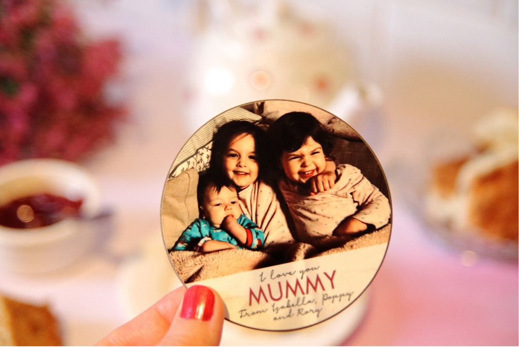 Personalised 'I Love You Mummy' Photo Coaster for Mother's Day