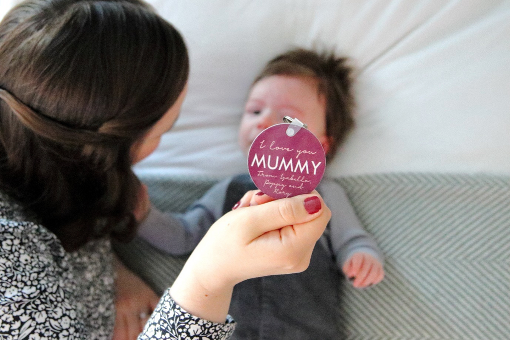 Personalised 'I Love You Mummy' Photo Keyring