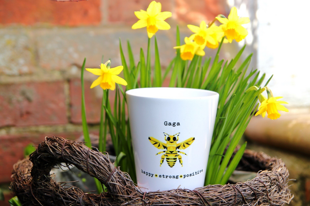 Personalised 'Bee' Positive Flower Pot & Wildflower Seed Kit