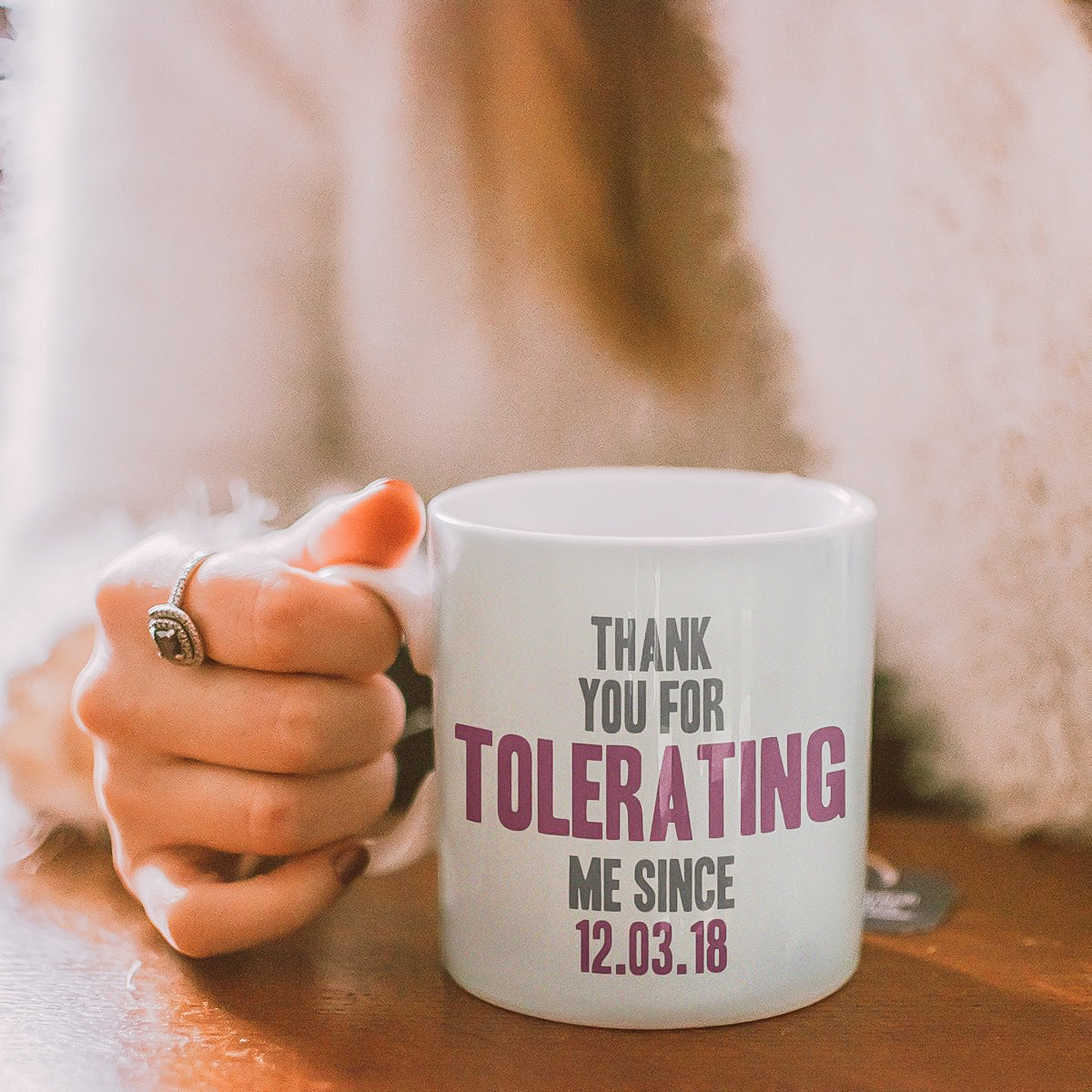 Personalised 'Thank You For Tolerating Me' Mug Personalised 'Thank You For Tolerating Me' Mug Personalised 'Thank You For Tolerating Me' Mug Personalised 'Thank You For Tolerating Me' Mug Personalised 'Thank You For Tolerating Me' Mug Personalised 'Thank You For Tolerating Me' Mug